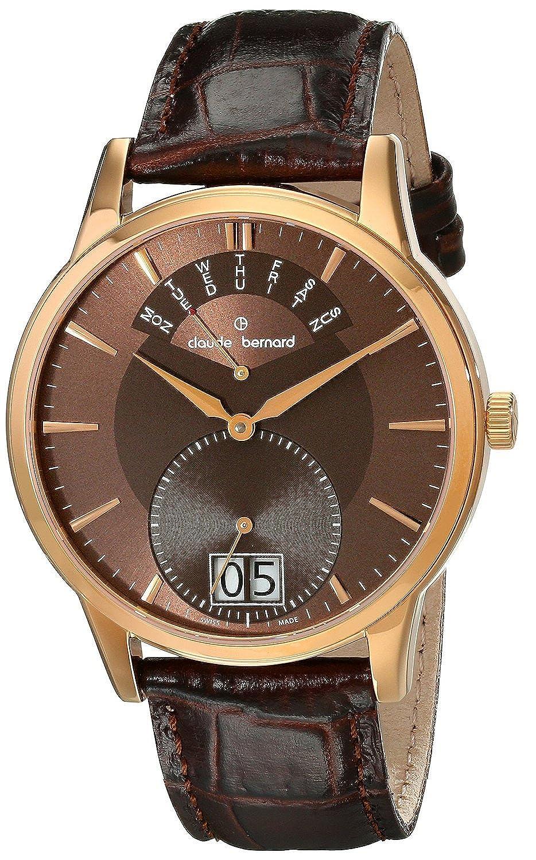 [クロードベルナール]claude bernard 腕時計 Classic Gents Analog Display Swiss Quartz Brown Watch 34004 37R BRIR メンズ [並行輸入品] B0182SDB98