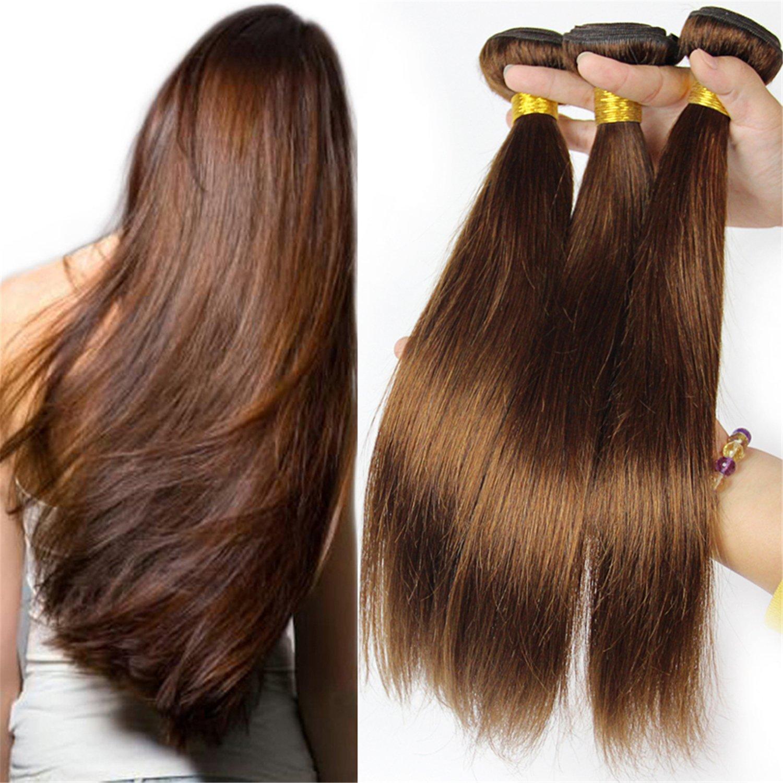 Amazon Babe Hair Dark Brown 2 3 Bundles 300g Per Set Silky