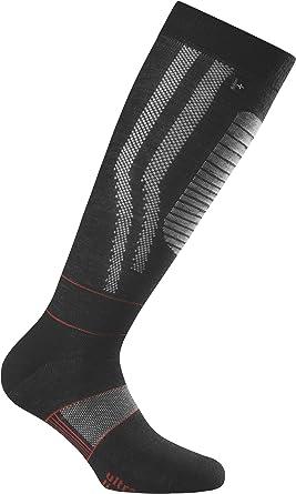 Rohner Socken Calcetines de esquí, color negro, talla 36-38