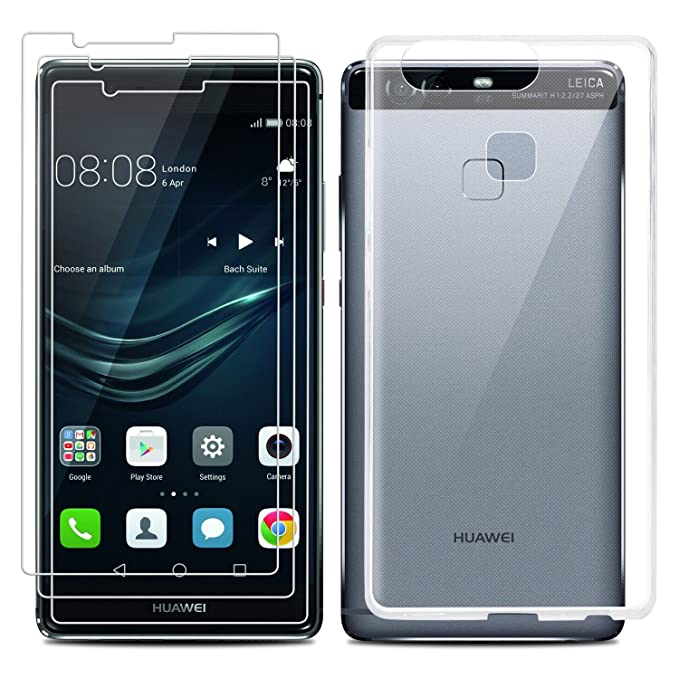 1 opinioni per Huawei P9 Caso Screen Protector Set, EnGive trasparente di TPU Cristallo