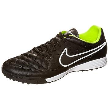Nike Tiempo Genio Leather Tf Fussballschuhe Black Black Volt