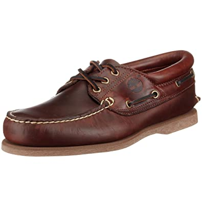 Timberland Classic Boat FTM 3 Eye Padded Collar 76015, Chaussures à lacets homme Marron