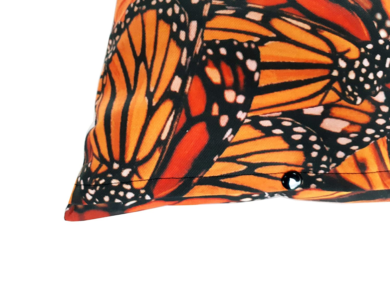 Housse de Coussin 40x40 centim/ètres Motif Papillons Monarque Orange