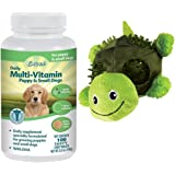 Best Multi-Vitamins For Small Dogs And Puppies- Excel Chewable Tablets Provide The Correct Balance of Vitamins and Minerals Essential For A Growing Puppy- 100% Natural - Includes KONG Turtle Chew Toy