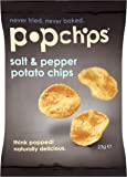 Popchips Salt and Pepper Popped Potato Chips 23 g (Pack of 24)