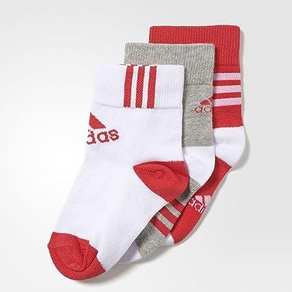 Adidas LK Ankle 3Pp - Calcetines Cortos para niños, Talla 35-38