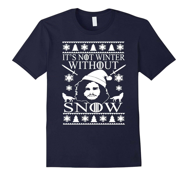 Jon Snoww Gamee Thronee T-shirts Ugly Christmas Sweater Gift-RT