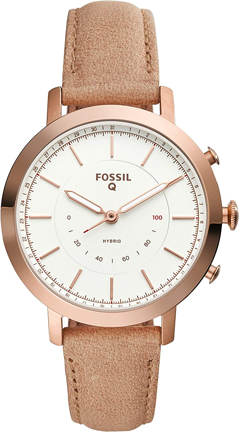Fossil Womens Neely Stainless Steel Hybrid Smartwatch with Activity Tracking and Smartphone Notifications