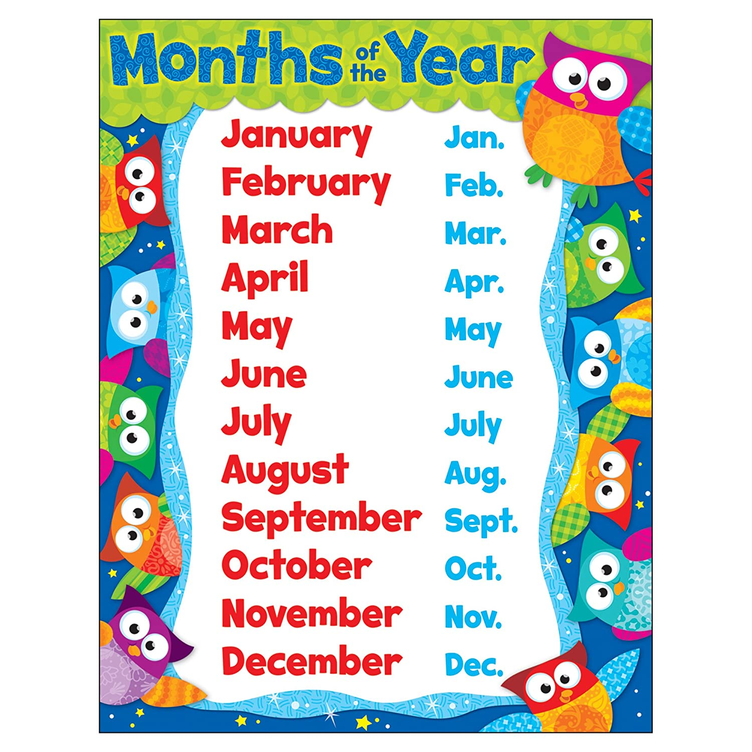 Months of the Year (Owl-Stars!Â-) Trend T-38448
