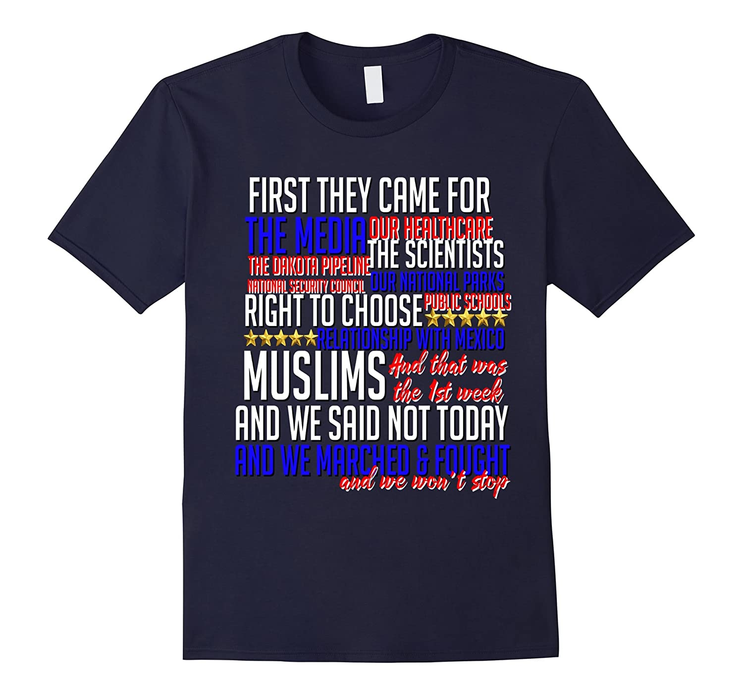 First They Came For Shirt Science Civil Rights Muslim Resist-TD