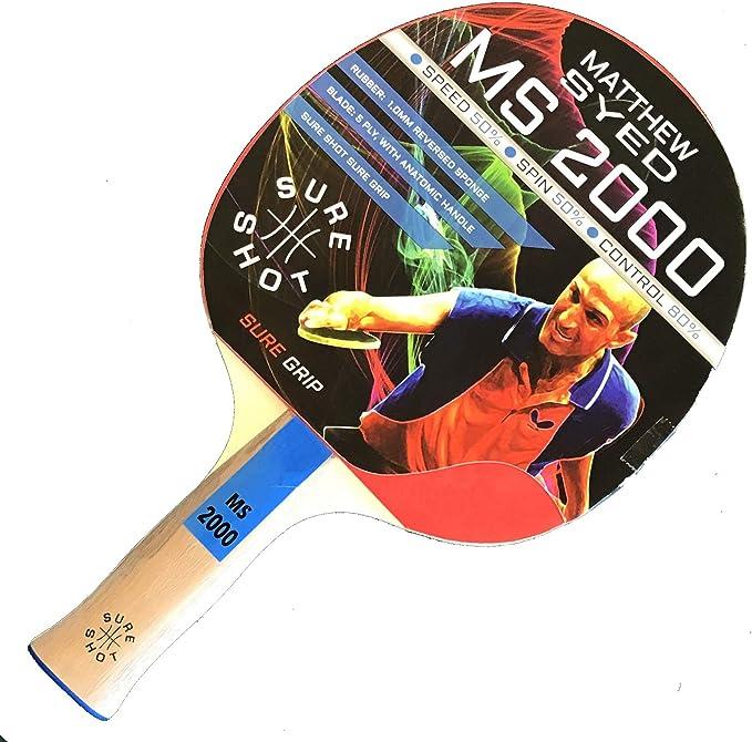 Sure Shot Matthew Syed 4000 1 mm reversde Caoutchouc Tennis de table chauve-souris-ITTF