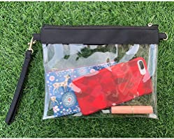 Games Auony Stadium Approved Clear Purse Sports 100/% Clear Crossbody Purse Messenger Shoulder Bag Clear Handbags with Adjustable Shoulder Strap /& Wrist Strap for Concerts