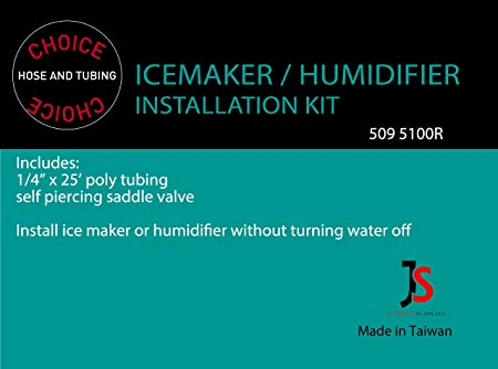 Humidifier hook up water line