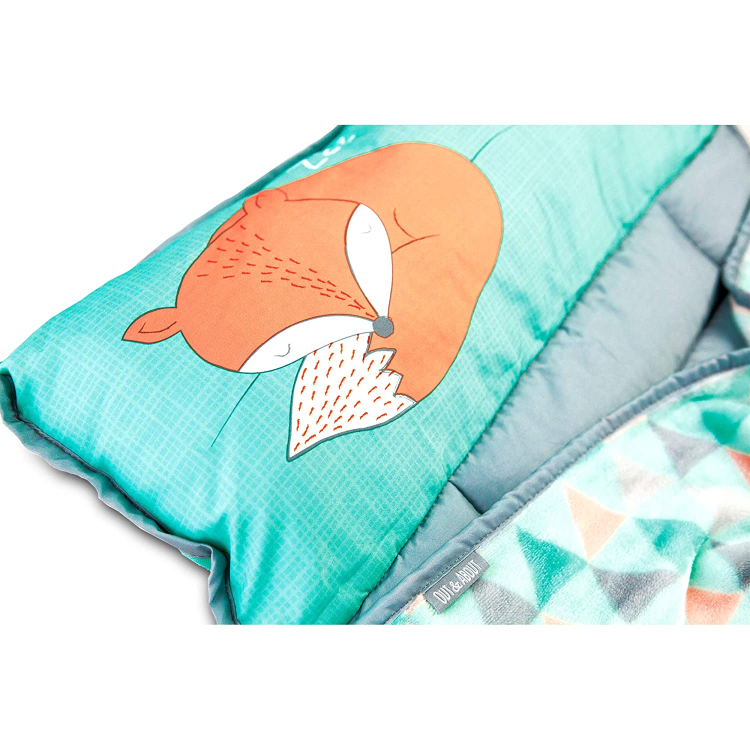 Blanket Pillow For Boys or Girls Mountain Fox Foldable Comfy Cover Toddler Nap Mats For Preschool Kinder Daycare