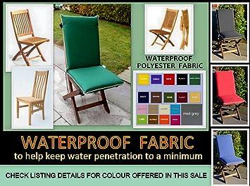 zippy waterproof high back dining chair cushion garden furniture rh amazon co uk
