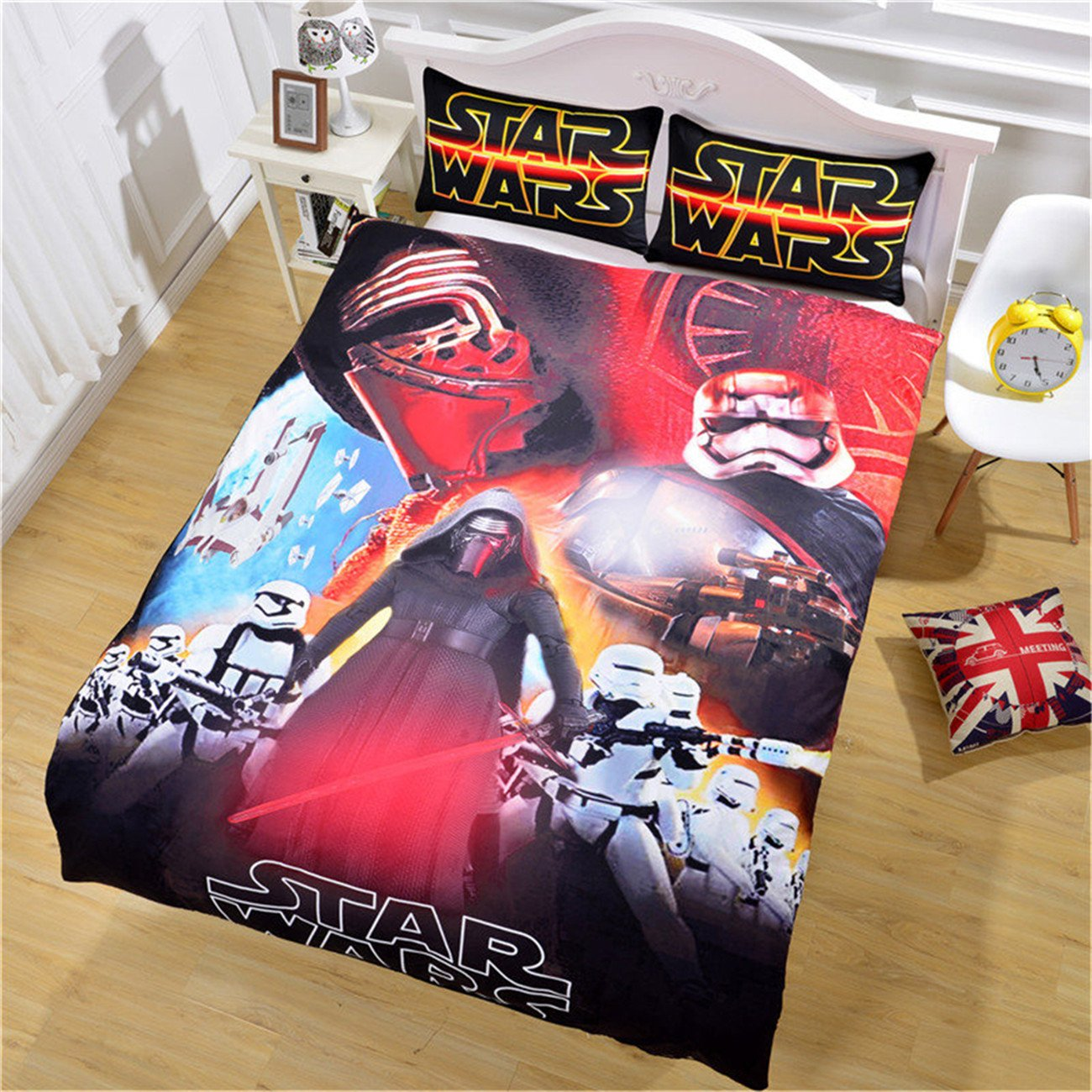 NOOS 3D Star Wars Duvet Cove Sets - Kids love movies Bedding Set 2018 Design 100% Brushed microfiber .Including 3PC 1Duvet cover,2Pillowcases Twin Full Queen King Size