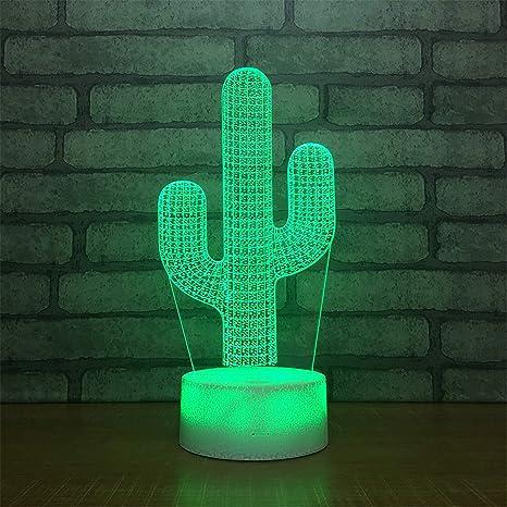Amazon.com: Lámpara de mesa de 7 colores para bebé, acrílico ...