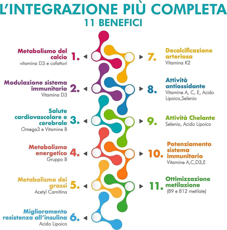 Paleocomplex - Conjunto Multivitamínico Mineral con ácidos grasos Omega 3, vitaminas D3 y K2, ALC, ácido Alfa Lipoico.