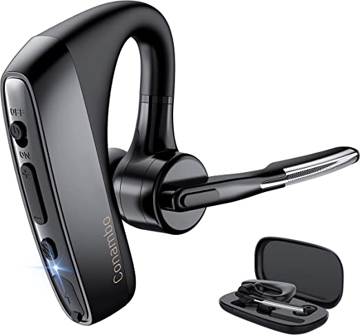 Bluetooth Headset,Wireless Bluetooth Earpiece Earphone with Noise Cancelling Earbuds Mic,V5.1 Compatible for iPhone Android Cell Phones Driving//Business//Office//Trucker