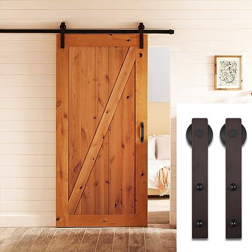 SDH-A023-BR Sliding Barn Door Hardware Set 6.6 FT - Antique Sliding Door: Amazon.com