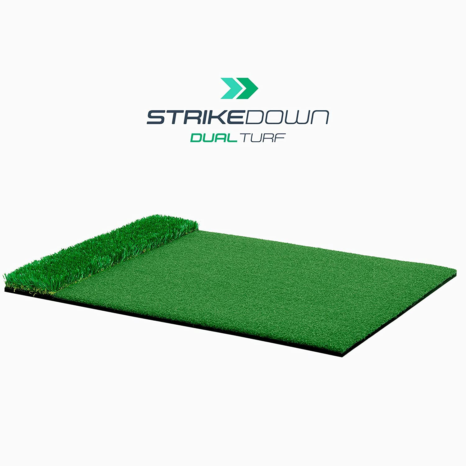 Motivo Golf StrikeDown Dual-Turf Plus Golf Hitting Mat 2 x 3 Feet Free Two-Day Delivery