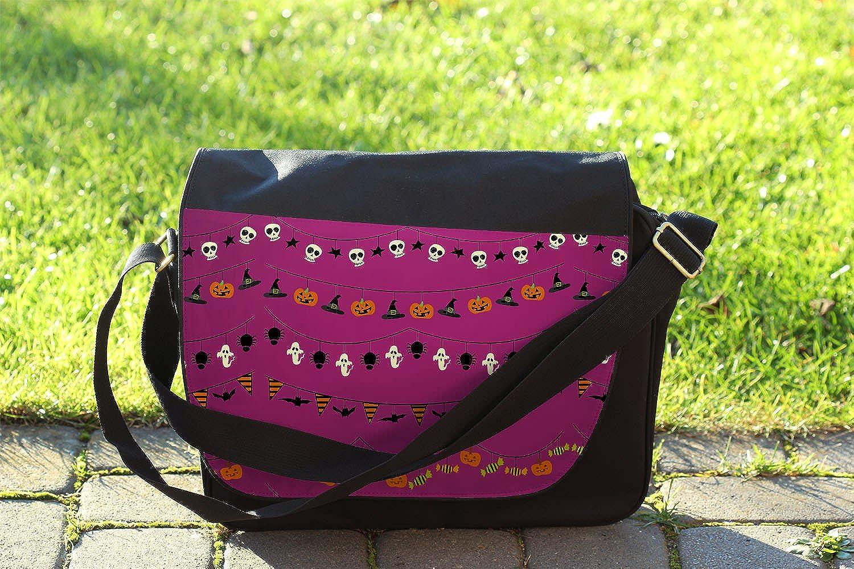 Halloween Decorations Messenger Bag Cross Body Laptop School Work Bag