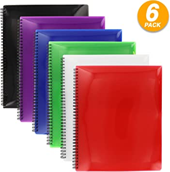 Oxford Poly 8 Pocket Folder  Letter Size 9.1 x 10.6 0.4 Colors may Vary5 PACK