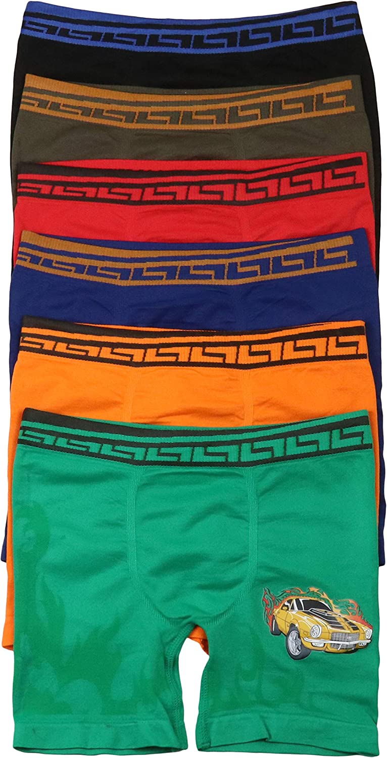 ToBeInStyle Boys Pack of 6 Seamless Graphic Print Boxer Briefs