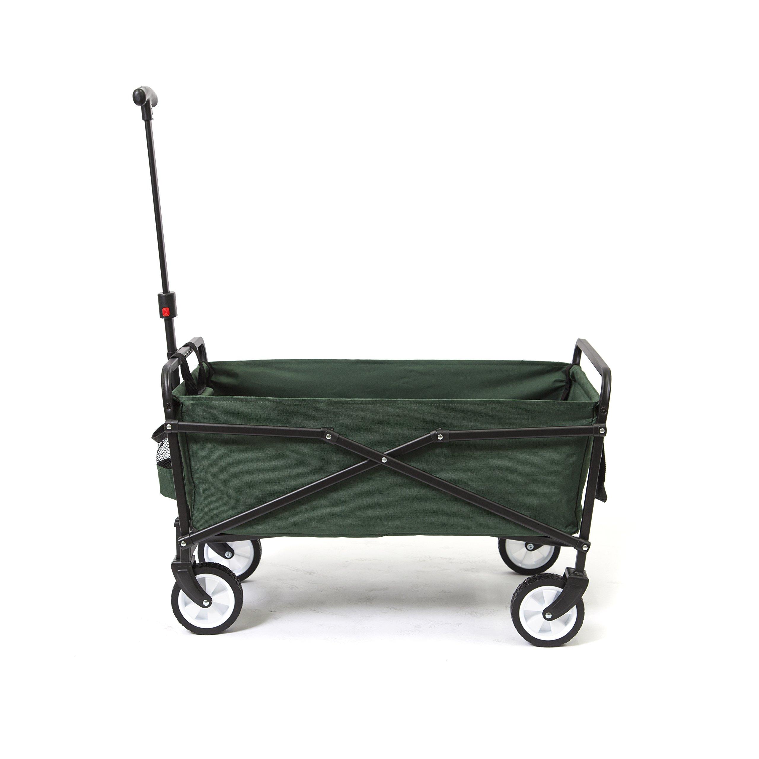 YSC Wagon Garden Folding Utility Shopping Cart,Beach (Green) by YSC (Image #3)