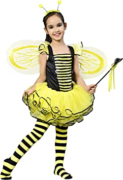 IKALI Disfraz de Abeja para Niña, Hada Dress up Vestido, Balleto ...