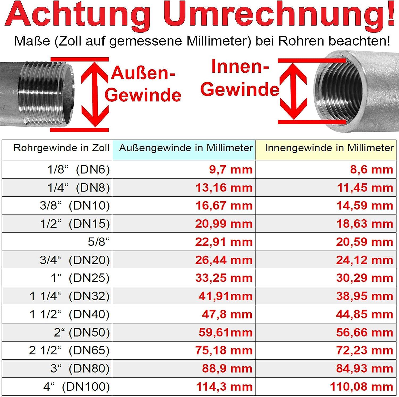 2 x 1 1//4 Zoll Pumpenverschraubung f/ür Wilo Grundfos Heizungspumpe Set mit 2 St/ück