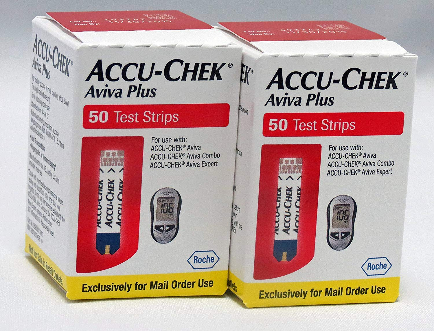 ACCU-CHEK Aviva Plus Mail Order Test Strips (100 Count) 2 Packs of 50 by Accu-Chek