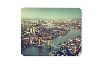 Londres puente por encima tapete de ratones Cojín: Amazon.es ...
