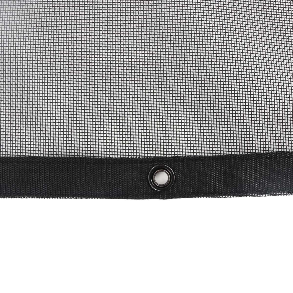 Tentproinc Truck Mesh Tarp 9' X 12' Black Heavy Duty Cover Reinforced Double Needle Stitch Webbing Ripping and Tearing Stop, No Rust Thicker Brass Grommets - 3 Years Limited Warranty by Tentproinc (Image #3)