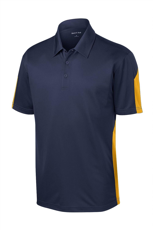 Sport Tek Mens Textured Moisture Wicking Polo Shirt