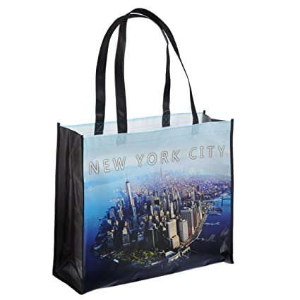 c865b0ea29c1 Image Unavailable. Image not available for. Color  NYC Downtown Photo  Reusable Shopping Tote Bag ...