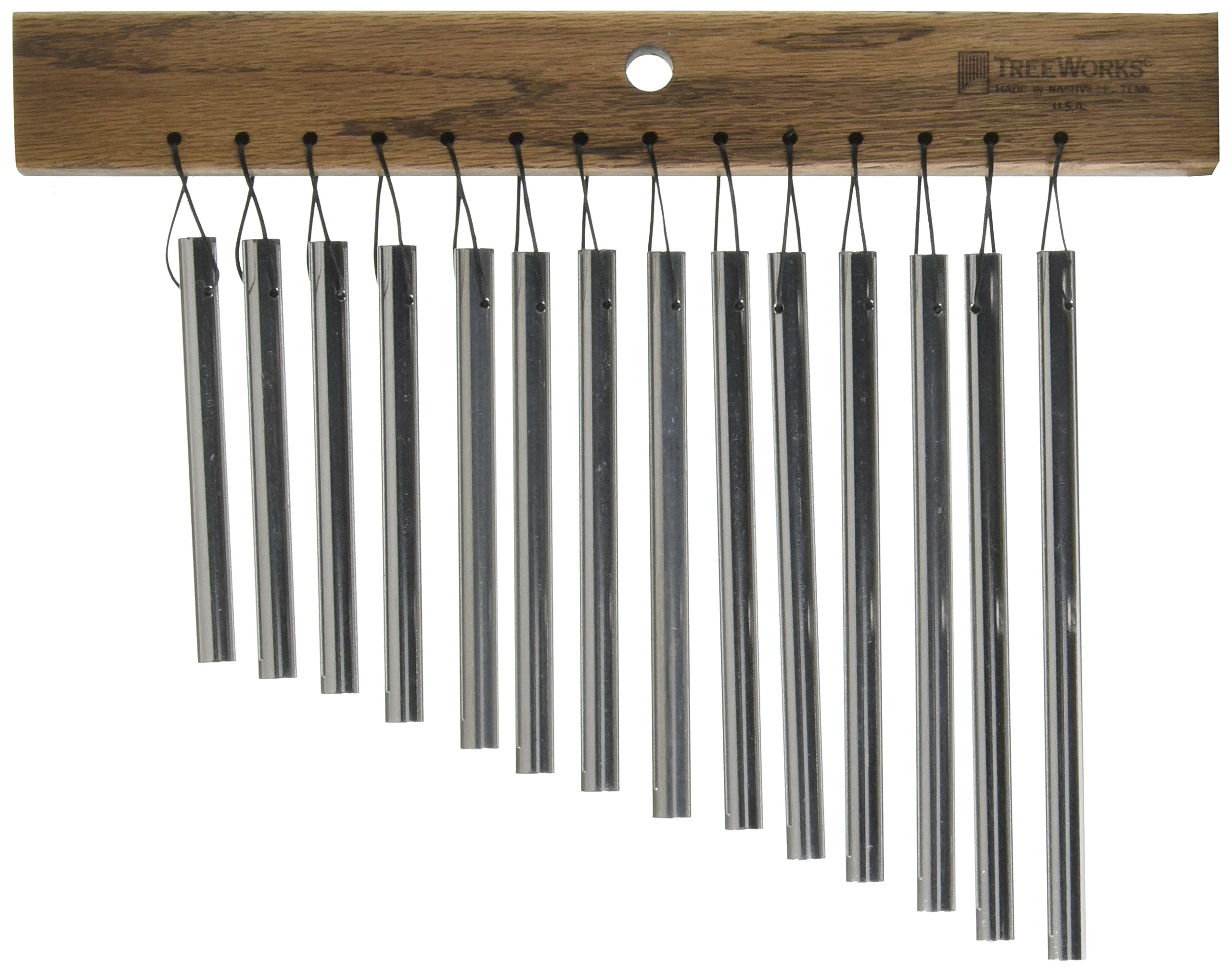 TreeWorks Chimes TRE12 Small Single Row Chime with 12 bars by TreeWorks Chimes