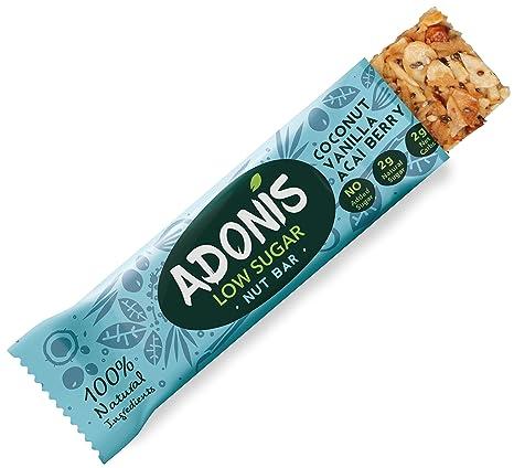 Adonis Low Sugar Nut Bar - Barritas de Coco Crujiente Sabor a Vainillia | 100%