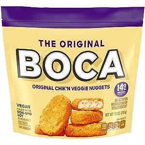 Boca Original Chik'n Non GMO Frozen Vegan Veggie Nuggets (10 oz Bag)