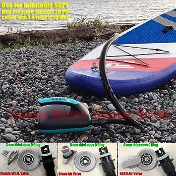 SEAMAX Kit de Manguera de Aire de Nailon para 20 PSI Sup Bomba de Aire El/éctrica