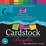 Darice Core'dinations, Cartoncino Colorato, Colori Brillanti, 40 fogli, 15.2 x 15.2 cm