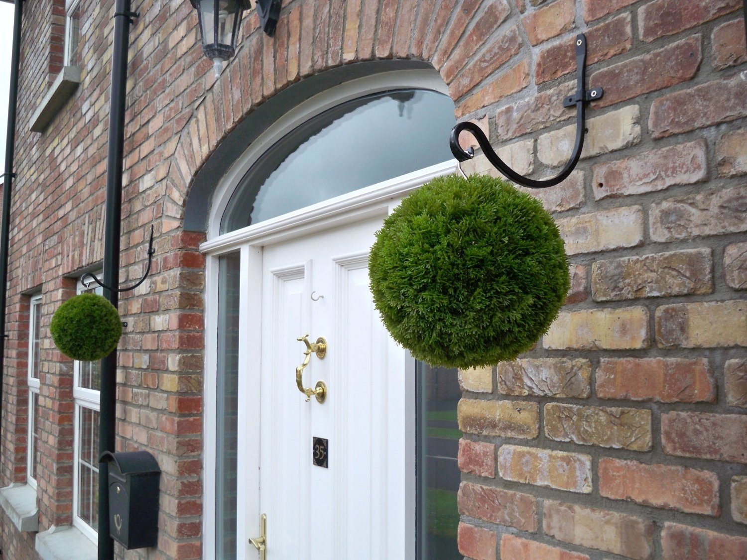 2 Best Artificial 28cm Conifer Topiary Grass Balls