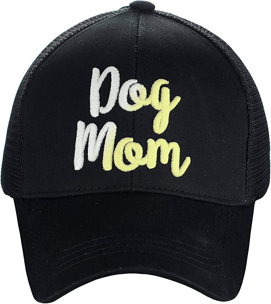 Colorful I Love Dogs Women High Ponytail Baseball Caps Classic Adjustable Funky Snapback
