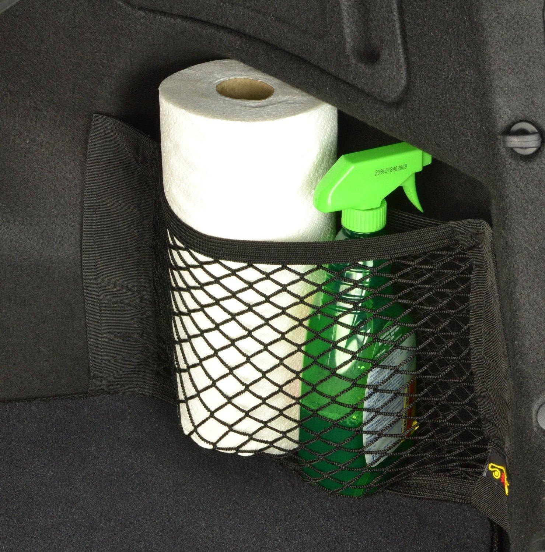 Generi Alimentari Protettivo Portaoggetti Organizer per Auto Bottiglie Wommty 2 Pezzi Rete Portaoggetti Tasca Organizer con Velcro Rete Bagagliaio Auto