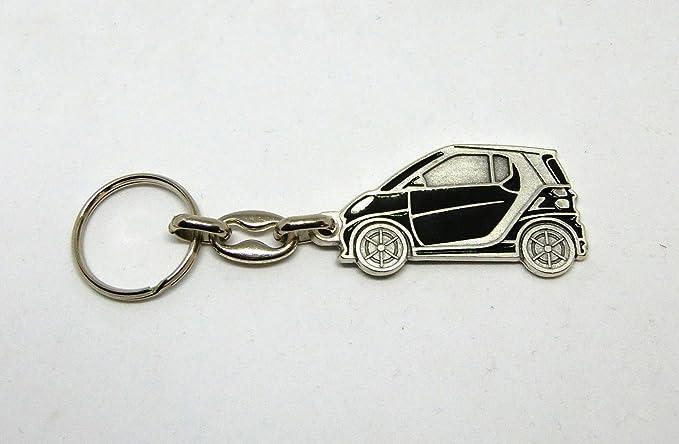 GTBITALY Mini Cooper Tuning Porte-cl/és argent/é /émaill/é noir 100 /% fabriqu/é en Italie
