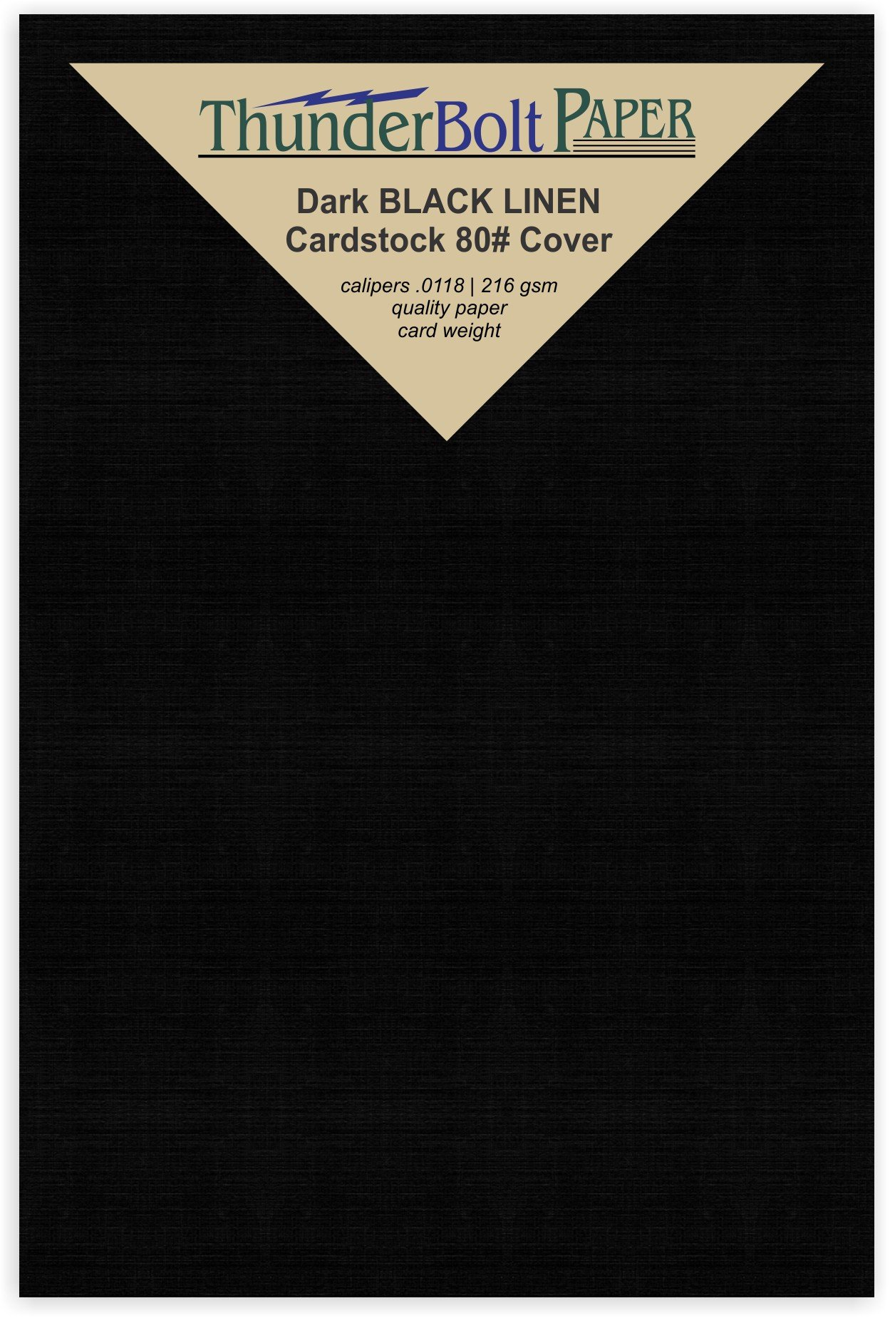 350 Black Linen 80# Cover Paper Sheets - 3'' X 5'' (3X5 Inches) Photo| Index Card|Frame Size - Card Weight - Deep Dye, Fine Linen Textured Finish - Quality Cardstock