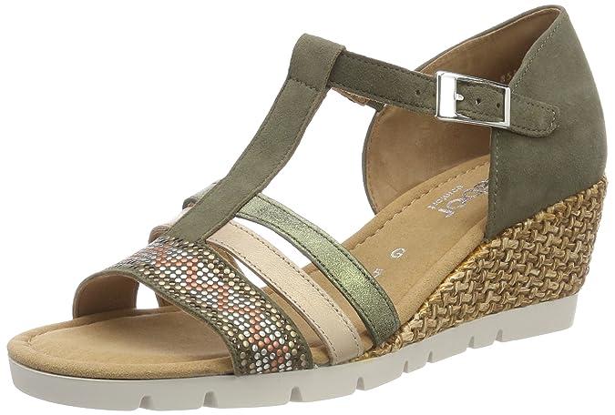 Gabor Shoes Comfort Sport, Sandalia con Pulsera para Mujer, Verde (Oliv K. Grata), 39 EU