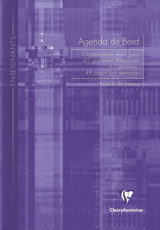 Clairefontaine – Agenda escolar de deberes, 6 columnas, 144 páginas, 21 x 29,7 cm, colores surtidos