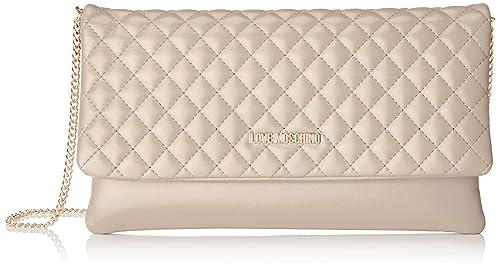 Pu Nappa Shoulder Women's Love Women's Moschino Bag BeigeTortora1x17x29 Shoulder cm Bag Quilted Borsa OPiukXZ