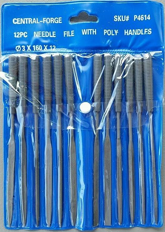 Needle File Set 10 piece /& Needle File Handle Turned hardwood handle